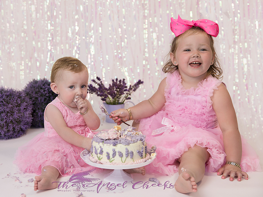 cake smash photographer high wycombe lavender theme