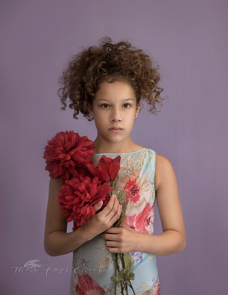 Fine Art girl with flowers portrait photographer High Wycombe