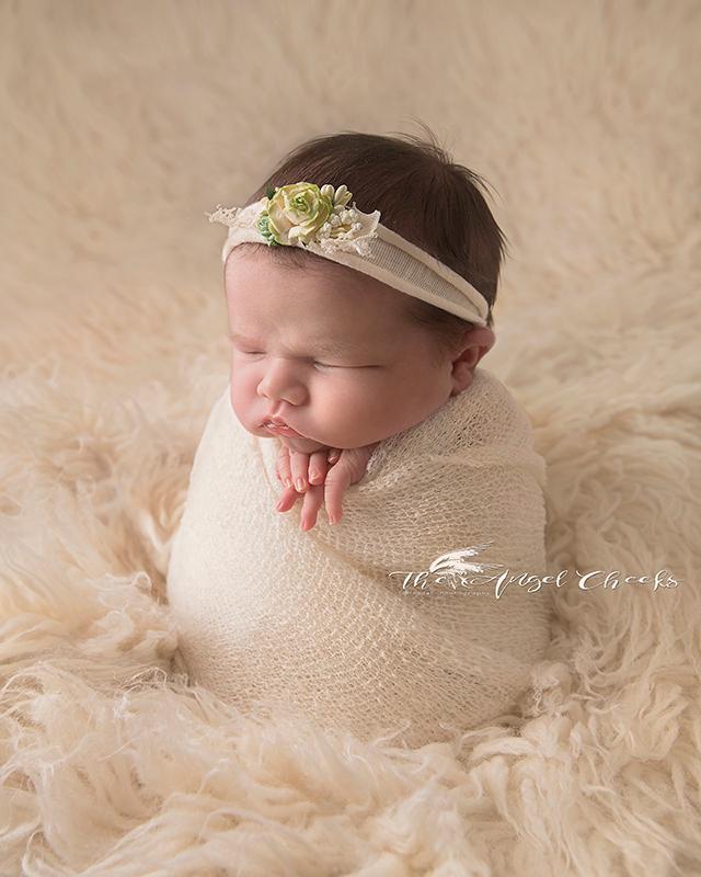 moody baby girl newborn potato sack High Wycombe Photographer