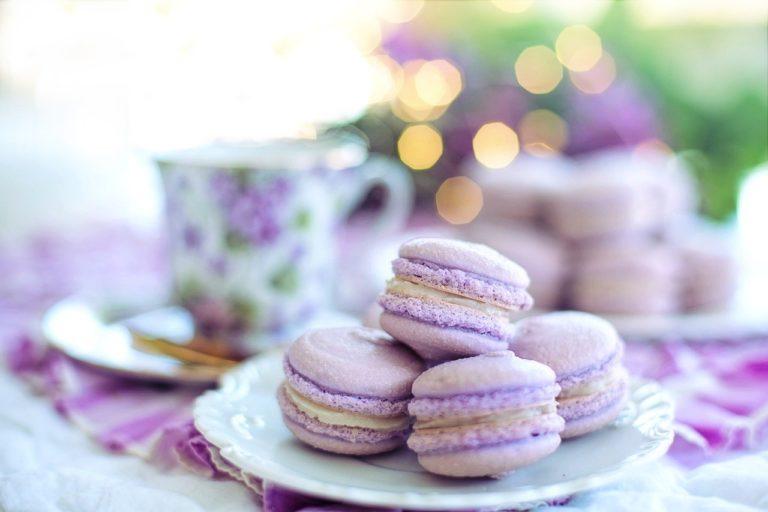 macarons, purple, easter brunch