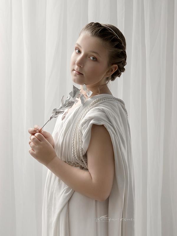 roman goddess stylised girl portrait child Photographer High Wycombe
